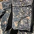 Clast-rich impact pseudotachylite (Sudbury Breccia, Paleoproterozoic, 1.85 Ga; Windy Lake Northwest roadcut, Sudbury Impact Structure, Ontario, Canada) 13 (33858899328).jpg