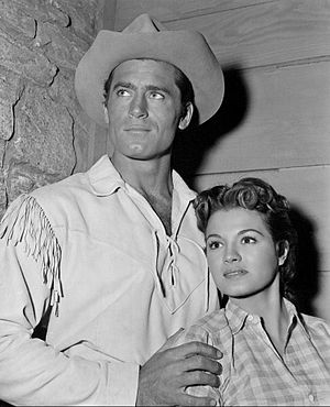 Angie Dickinson - With Clint Walker in Cheyenne, around 1957