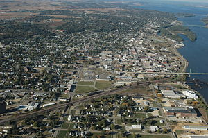 Clinton, Iowa - View of downtown Clinton looking north