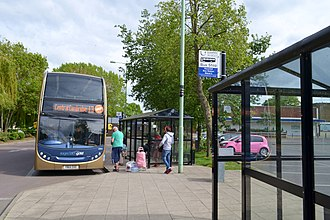 Haverhill, Suffolk - Stagecoach Gold bus 13 at Haverhill bus station