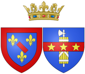 Coat of arms of Anne Marie Martinozzi as Princess of Conti.png