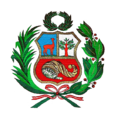 Coat of arms of Peru Escudo Peruano Text.png