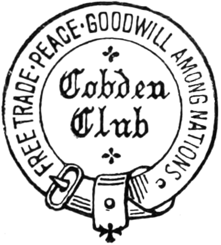 cobden club wikivisually American Fashion 1970 cobden club free trade peace goodwill amongst nations publishing logo as used by the cobden club in 1881 works