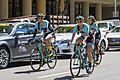 Colavita-Bianchi riders warming up on the course in Sacramento at the start of Stage 4 (34976782035).jpg