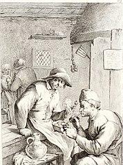 Two Peasants Smoking Pipes