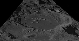 Colombo (crater) - Oblique view facing south from Apollo 8