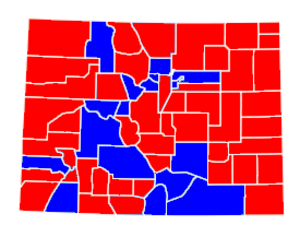 United States Senate election in Colorado, 1996 - Image: Colorado 2002 senate