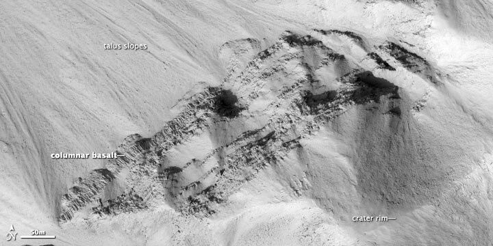 Columnar jointing, Marte Vallis