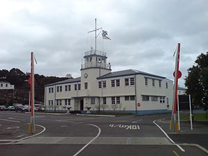Devonport Naval Base - The base headquarters building.