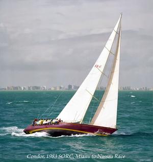 Condor (yacht) - Condor racing Miami–Nassau in 1983.