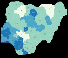 Confermati i decessi correlati al COVID-19 in Nigeria da state.png
