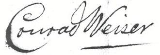 Conrad Weiser - Image: Conrad Weiser (signature)