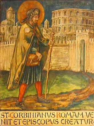 Corbinian - Image: Corbinian panel rome