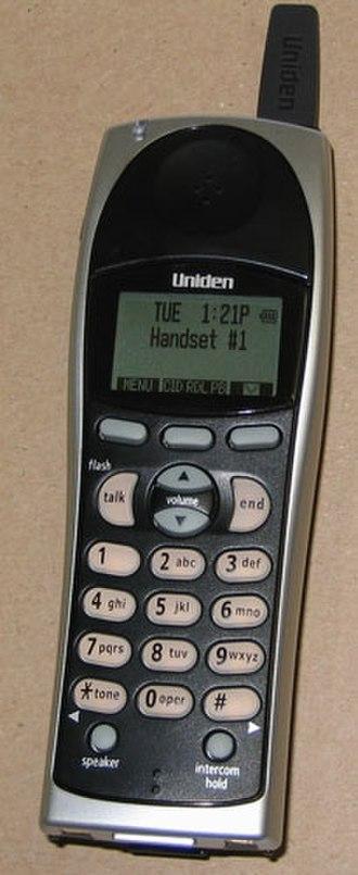 Uniden - Image: Cordless Uniden large