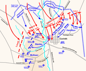 Augustus Louis Chetlain - Battle of Corinth, actions October 3–4, 1862