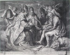 Cornelis Galle the Elder - The Four Fathers of the Church, after Rubens