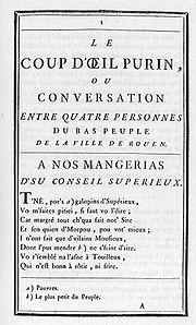 Le Coup d'œil purin is a polemical satire in verse published in Rouen in 1773