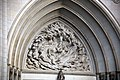 Creation of mankind - tympanum - west facade - National Cathedral - DC.jpg