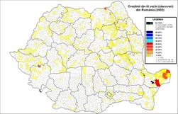 Crestini de rit vechi (staroveri) Romania (2002).png