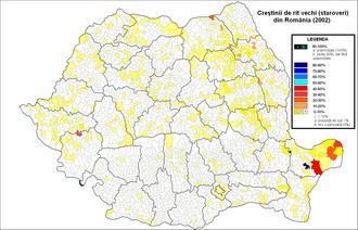 Lipovan Orthodox Old-Rite Church - Old Believers in Romania (2002 census)
