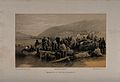 Crimean War, Balaklava; embarkation of the sick. Tinted lith Wellcome V0015433.jpg