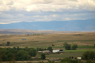 Crow Indian Reservation - Crow Nation landforms near Lodge Grass, Montana.