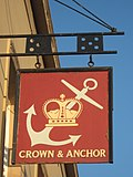 Crown and Anchor Pub Sign, Bromley - geograph.org.uk - 2180665.jpg