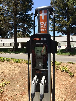 ChargePoint - ChargePoint CT4000 family intelligent dual port networked Electric Vehicle charging station with driver services, mobile and web apps.