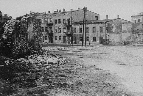 Czestochowa ghetto Rynek Warszawski circa 1944