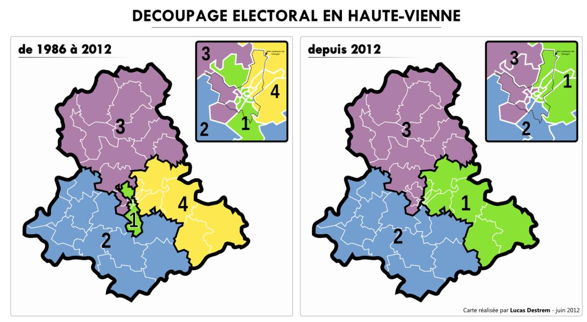 Liste des circonscriptions l gislatives de la haute vienne for Haute vienne carte