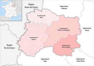 Arrondissements of the Marne department List of subdivisions of the Marne department in France