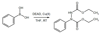DEAD as Michael-acceptor in substitution of boronic esters