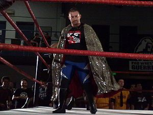 Davey Richards - Richards mocking Generico by wearing his cape at PWG's Battle of Los Angeles in November 2008