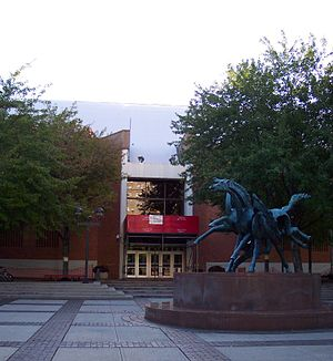 Daskalakis Athletic Center - The entrance to the DAC in 2006