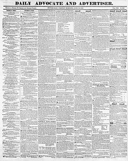 <i>Advocate</i> (Pittsburgh) 19th-century newspaper published in Pittsburgh, Pennsylvania, United States