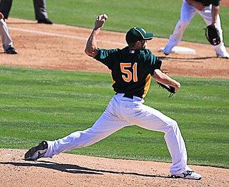 Dallas Braden - Braden pitching in 2011