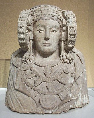 Spain - Lady of Elche, possibly depicting Tanit, from Carthaginian Iberia, 4th century BC