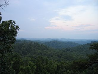 Daniel Boone National Forest - View from Tater Knob in the Daniel Boone National Forest