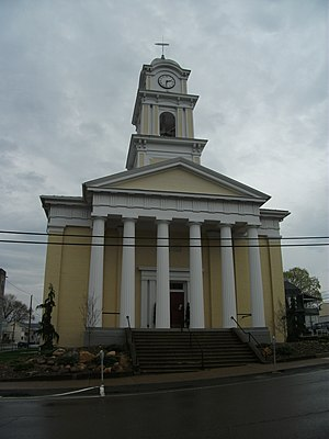 Joseph Parry - Mahoning Presbyterian Church in Danville, where Parry played the organ