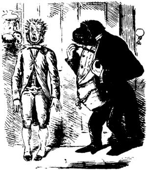 English: Caricature of Charles Darwins theory ...