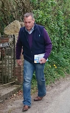 David Warburton - Image: David Warburton canvassing in Somerset for the 2017 election