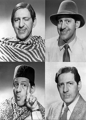 Dayton Allen - Allen as some of the characters he performed on The Steve Allen Show, and also as himself, 1959.