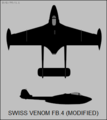 De Havilland Venom FB.4 Modified two-view silhouette.png