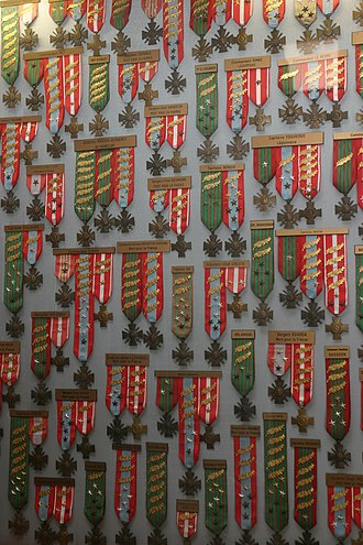 Military awards and decorations - Wall of Medals in the French Foreign Legion Museum