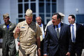Defense.gov News Photo 110729-F-RG147-062 - Secretary of Defense Leon E. Panetta walks with Commander of North American Aerospace Defense Command and U.S. Northern Command Adm. James.jpg