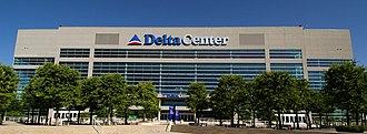 Vivint Smart Home Arena - June 2005 photo when it was known as the Delta Center.