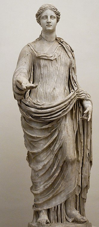 Demeter - A marble statue of Demeter, National Roman Museum