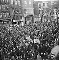 Demonstraties in Brussel tegen de Eenheidswet, stakers trekken door Luik, Bestanddeelnr 911-9363.jpg