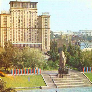 former monument in Kiev, Ukraine