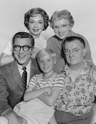 Dennis the Menace (1959 TV series) - The cast of Dennis the Menace; (clockwise from front center) Jay North, Herbert Anderson, Gloria Henry, Sylvia Field, and Joseph Kearns, 1960